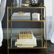 How To Make A Floating Nightstand Terrace Nightstand Antique Brass West Elm