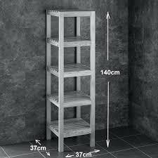 aweinspiring free standing bathroom shelf home inspiration