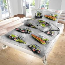 claas combine harvester tractor soft flannelette bed linen 135x200