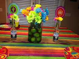theme centerpiece mexican party centerpieces lime centerpiece for a mexican