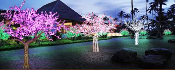 commercial lighting outdoor color changing led cherry blossom tree