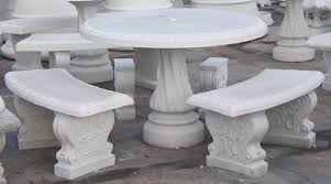 Concrete Patio Tables And Benches Concrete Patio Set Furniture Ideas Pinterest Concrete Garden