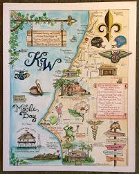 Downtown New Orleans Map by Wedding Maps Custom Map Art By Melissa Smith Venice Florida Artist