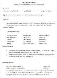 simple resume template 39 free samples examples format simple job