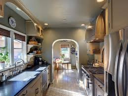 galley kitchen small personalised home design