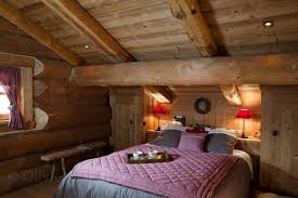 chambre montagne chambre style chalet de montagne idées décoration intérieure