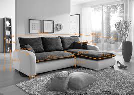 sofa grau weiãÿ sam ecksofa grau weiß scala 24 sofa 260 x 180 cm
