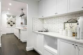 White Brick Tiles Design Ideas - White brick backsplash