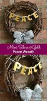 this mini silver and gold peace wreath is cute plus quick and