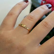 gold name ring personalized name ring gold name ring gold jewelry name