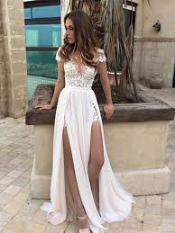 white lace prom dress neck cap sleeves white lace wedding dress white lace formal