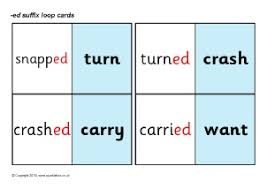 word list words for adding ed suffix sparklebox