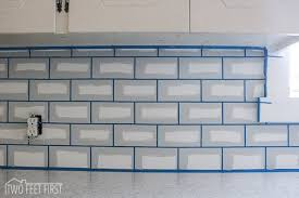 Tiling A Kitchen Backsplash Do It Yourself Diy Cheap Subway Tile Backsplash Hometalk