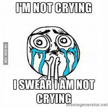 Meme Generator Crying - 25 best memes about im not crying meme im not crying memes