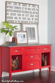 Painted Buffets And Sideboards by Red Buffet Table The Lilypad Cottage