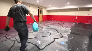 floor in designer metallic epoxy floor installation