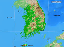 Physical Map Of East Asia by South Korea Physical Map A Learning Family