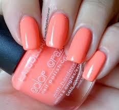 l a colors nail polish 206 nectarine breezythenailpolishlover