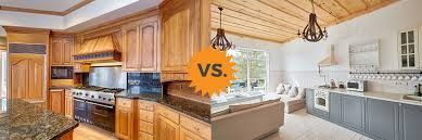 paint vs stain kitchen cabinets 2020 painted vs stained cabinets guide for kitchens