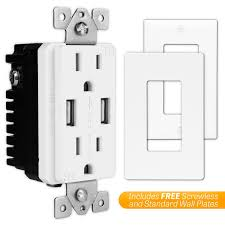 topgreener tu2154a 4a high speed usb charger receptacle 15a tamper