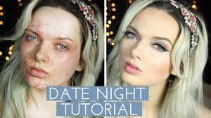 acne coverage date night make up tutorial mypaleskin youtube