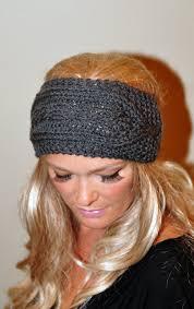 crochet ear warmer headband ear warmer wool crochet headband knit wrap braided