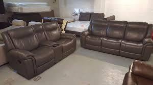 Scs Sofas Leather Sofa New Scs Baxter Endurance Dark Grey 3 U0026 2 Seater Manual Recliner