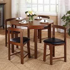 Simple Dining Set Design Amazon Com Mid Century Tobey Walnut Compact Dining Set 5 Piece