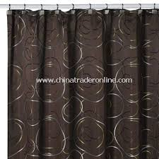 Green And Brown Shower Curtains Wholesale Eclipse Chocolate Fabric Shower Curtain Buy Discount