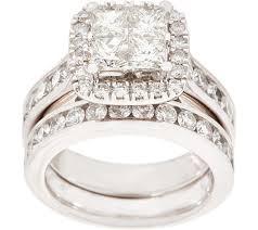 ring set seamless diamond ring set 2 80 cttw 14k by affinity qvc