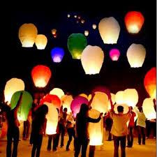 lantern kites aliexpress buy 10pcs white flying wishing l