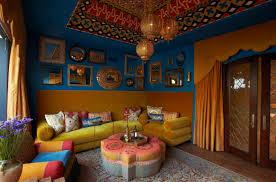 architecture beautiful moroccan bedroom with unique accessories