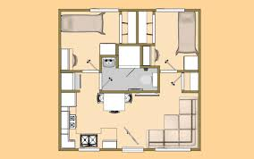 300 Sq Ft House Floor Plan A 20 U0027 X 20 U0027 400 Sq Ft 2 Bedroom With 3 4 Bath That I U0027m Calling The