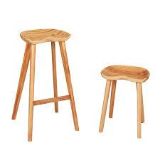tabouret bas de cuisine minimaliste moderne conception solide en bois tabouret de bar