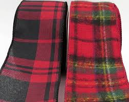 and black plaid ribbon flannel ribbon etsy