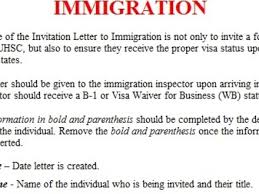 sample visa invitation letter 7 documents in word letter of