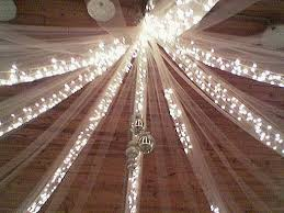 tulle decorations tulle and lights wedding decor wedding corners