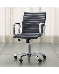 Black Leather Office Chairs Cyber Monday Savings Are Here 25 Off Crate U0026barrel Ripple Black