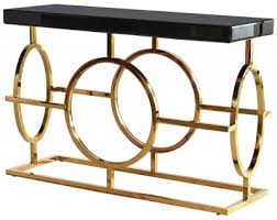 Venetian Console Table Buy Venetian Black Glass And Gold Console Table Cfs Uk