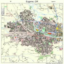 map of oregon eugene eugene oregon map 4123850