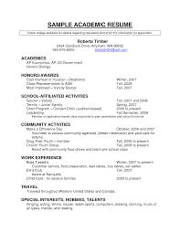 Resume Templates Doc Academic Resume Template Jospar