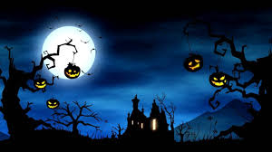 halloween background image 4k cartoon video background halloween yard background animation