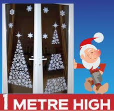 Christmas Window Decorations Uk by 1 Metre High Christmas Tree Window Decoration Christmas
