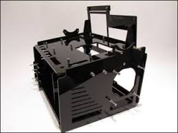 Computer Bench Case Raven Test Bench Computer Case Acrylic Black Watercooling Pc On