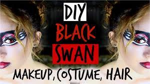 diy black swan makeup hair u0026 costume maddie ryles youtube