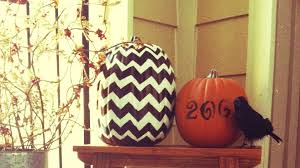 chevron zig zag pumpkin decorating decor halloween idea tips make