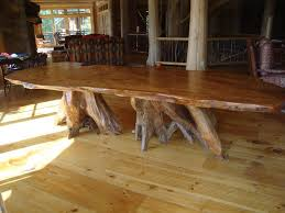Rustic Wood Dining Room Table by Rustic Dining Table And Chairs Gray Fabric Chairs On Rug Furniture