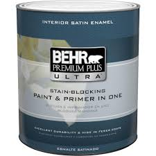 behr premium plus 1 qt ultra pure white semi gloss enamel zero