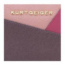 kurt geiger new saf zip around wallet in pink combination in pink