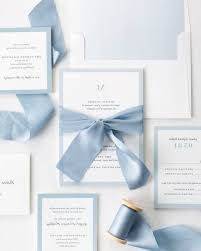 light blue wedding invitations complete wedding invitaitons with light blue ribbon and enclosures